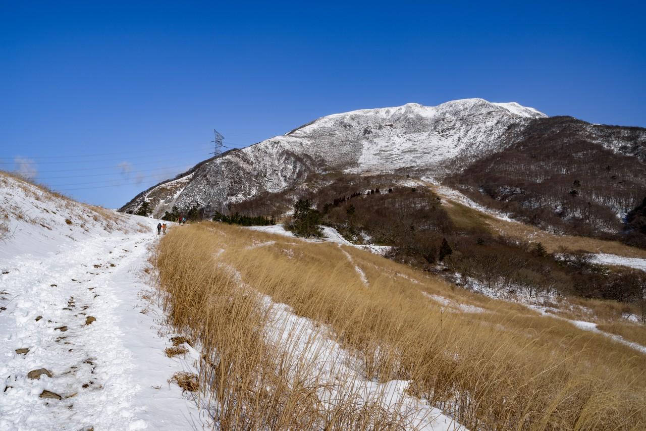 三合目付近から見た伊吹山の山頂