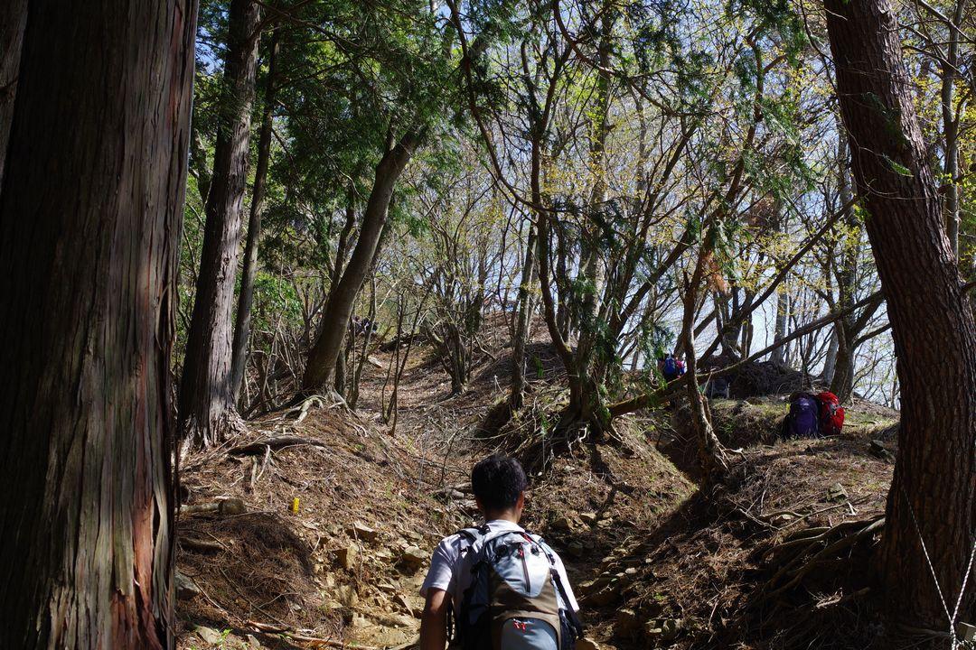 堀山の家からの登り