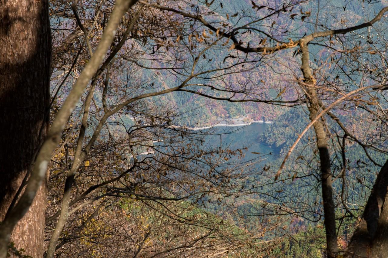 鞘口峠付近から見た奥多摩湖