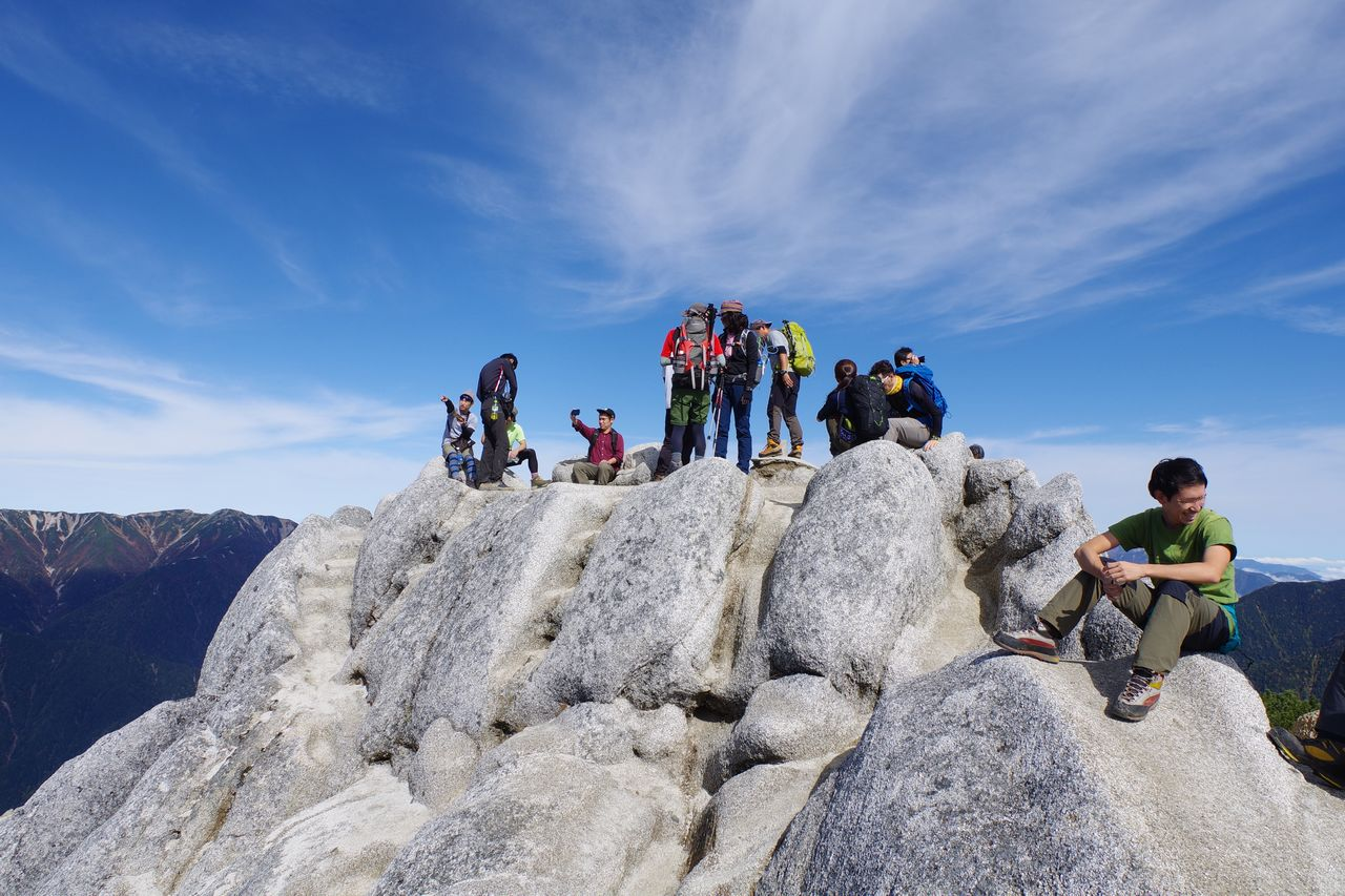 燕岳の山頂部