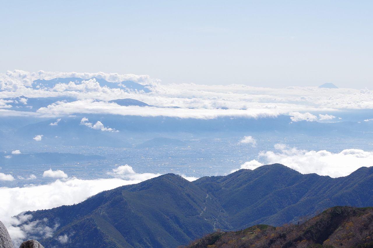 燕岳から見た松本盆地