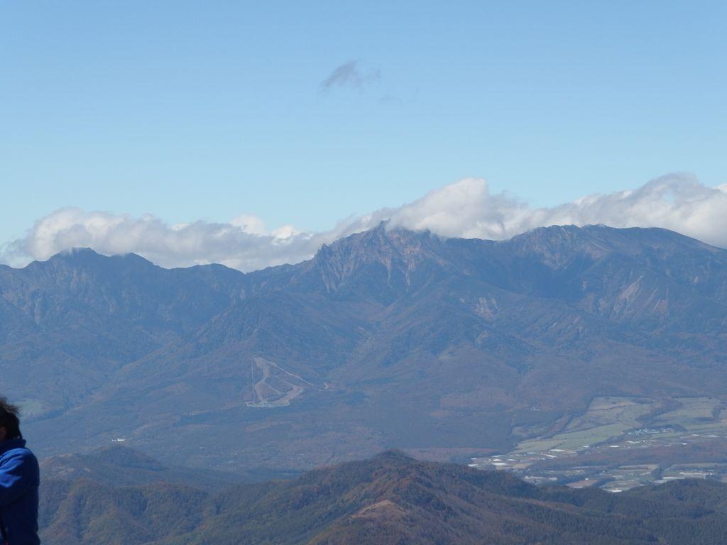 1瑞牆山から見た赤岳