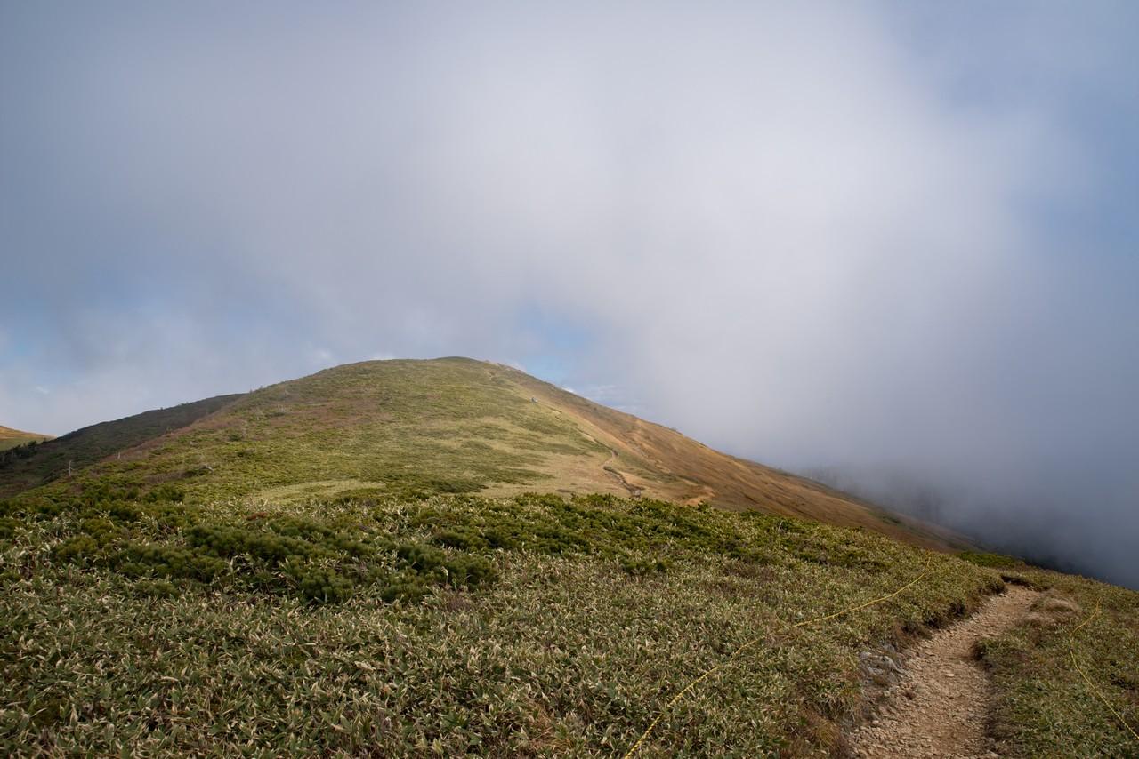 巻機山山頂の稜線