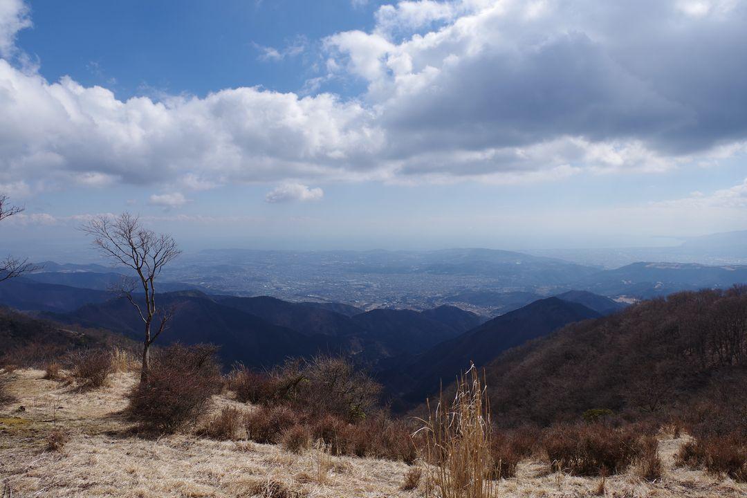 鍋割山から見た相模湾