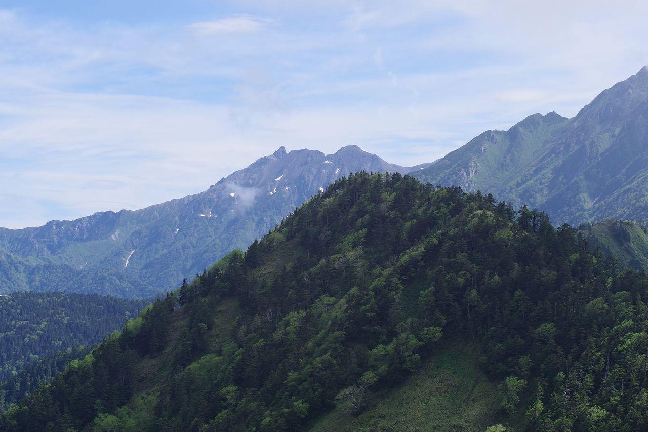 焼岳から見た槍ヶ岳