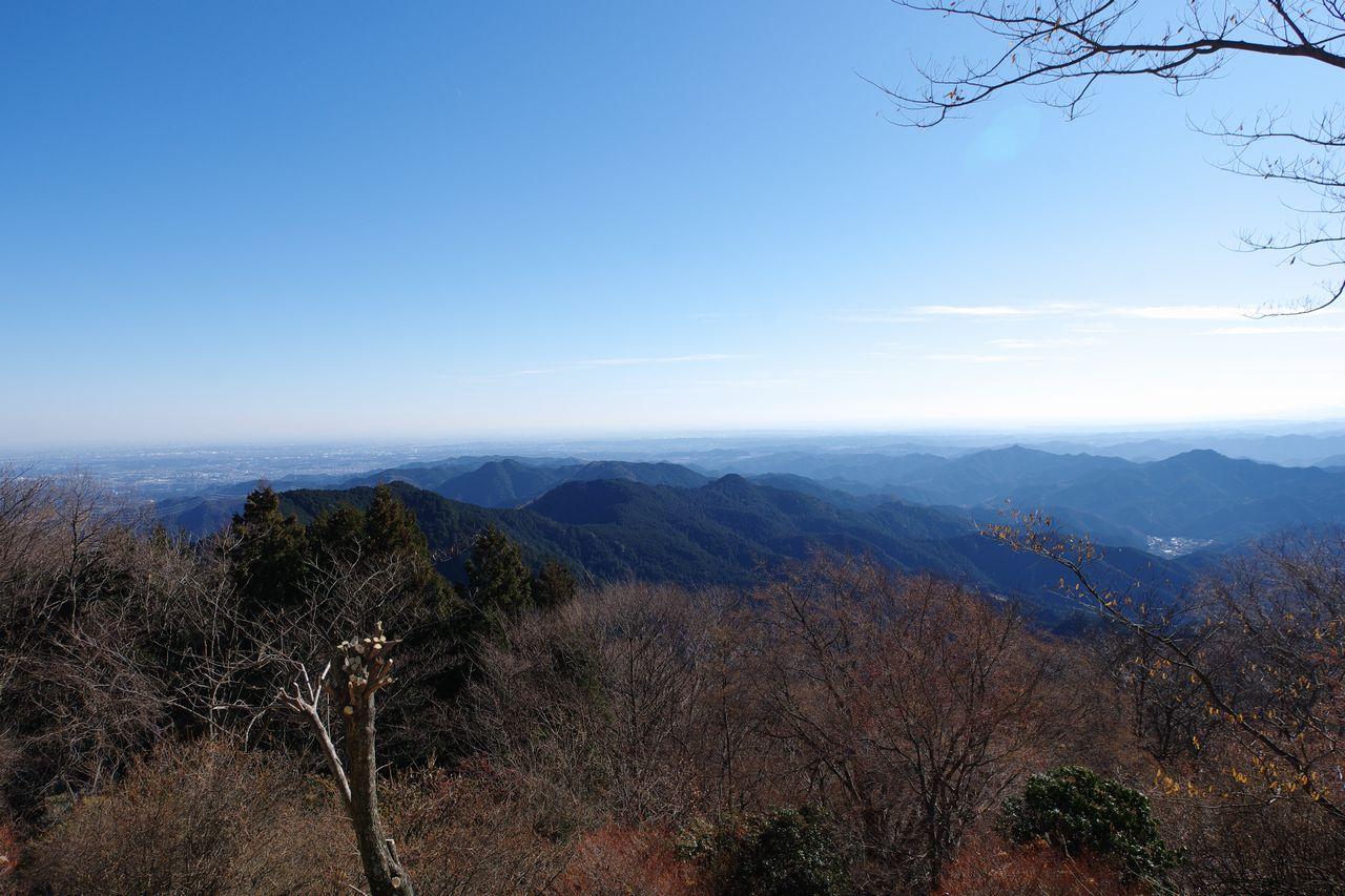関八州見晴台から見た都心方面の展望