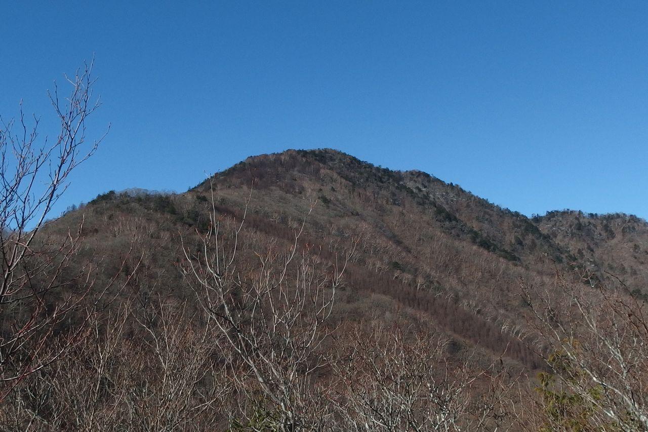 姥子山から見た雁ヶ腹擦山