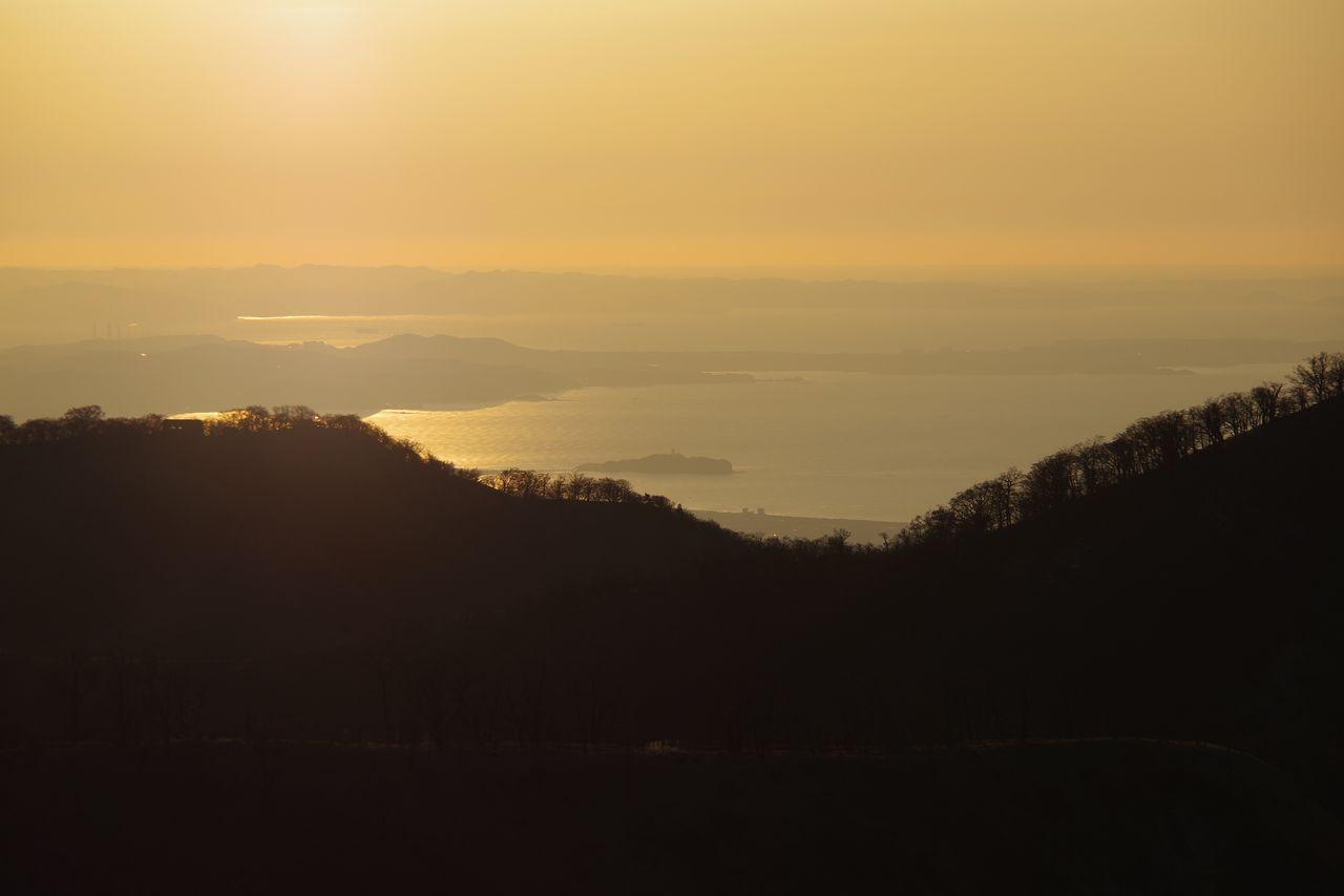 蛭ヶ岳山頂から見た江ノ島