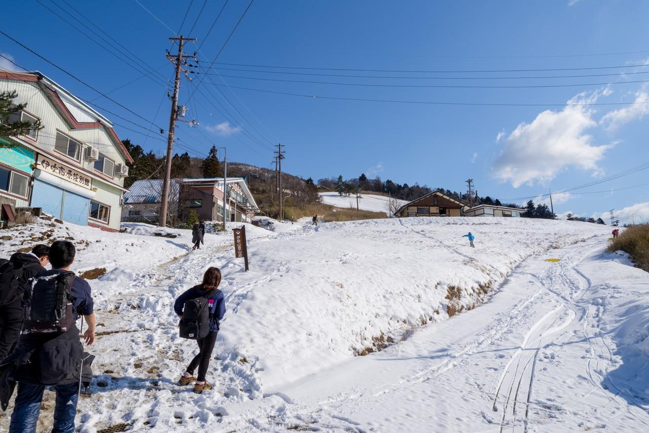 伊吹山スキー場のゲレンデ跡