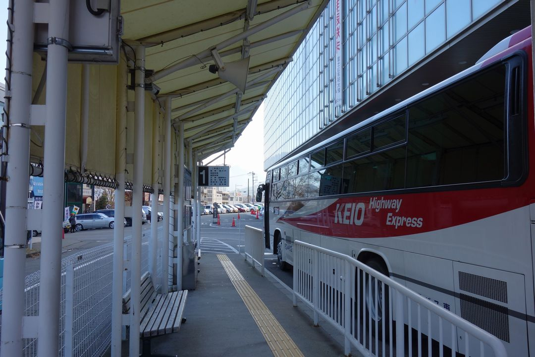 富士山駅のバスターミナル