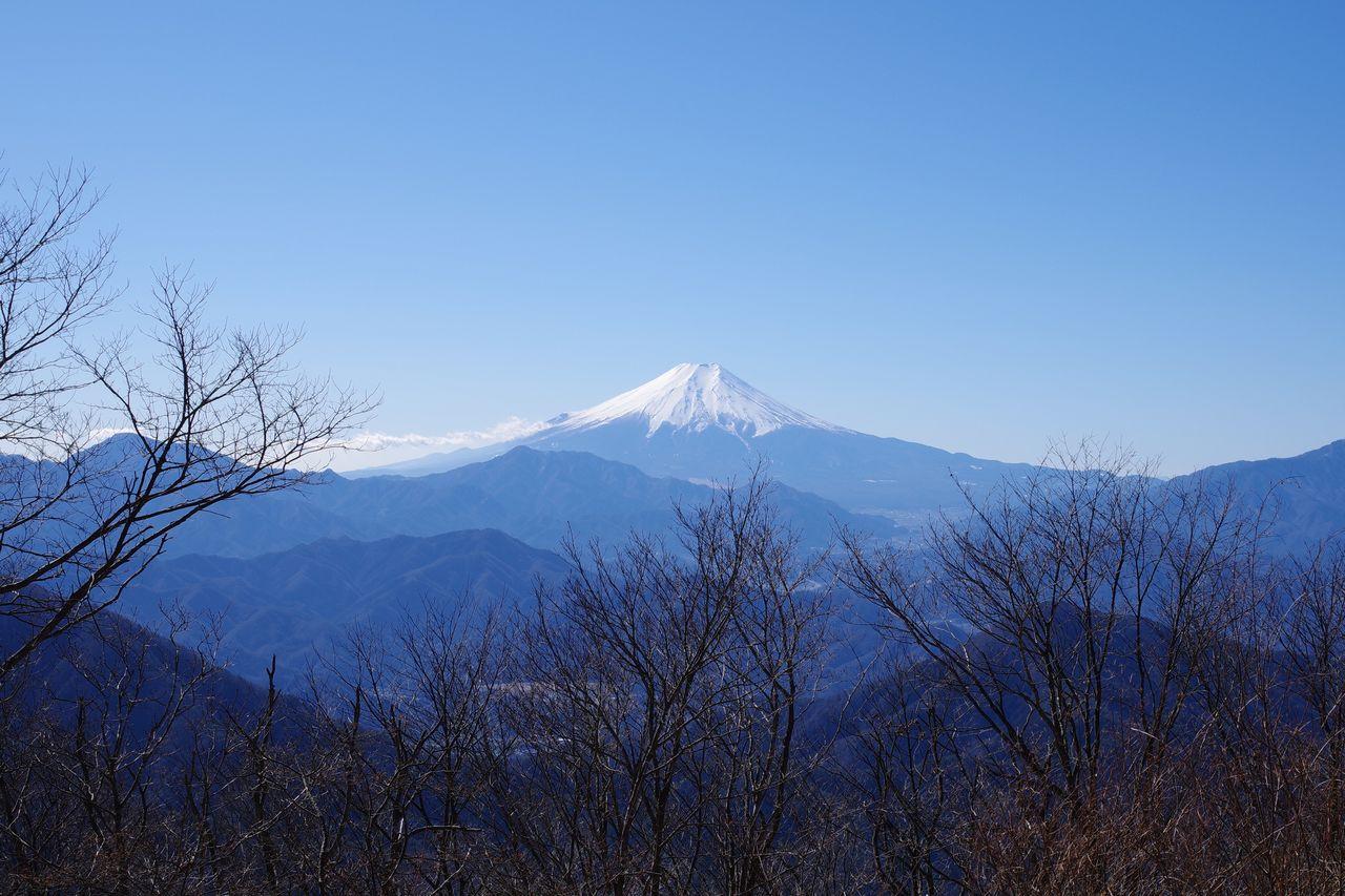 権現山から見た富士山
