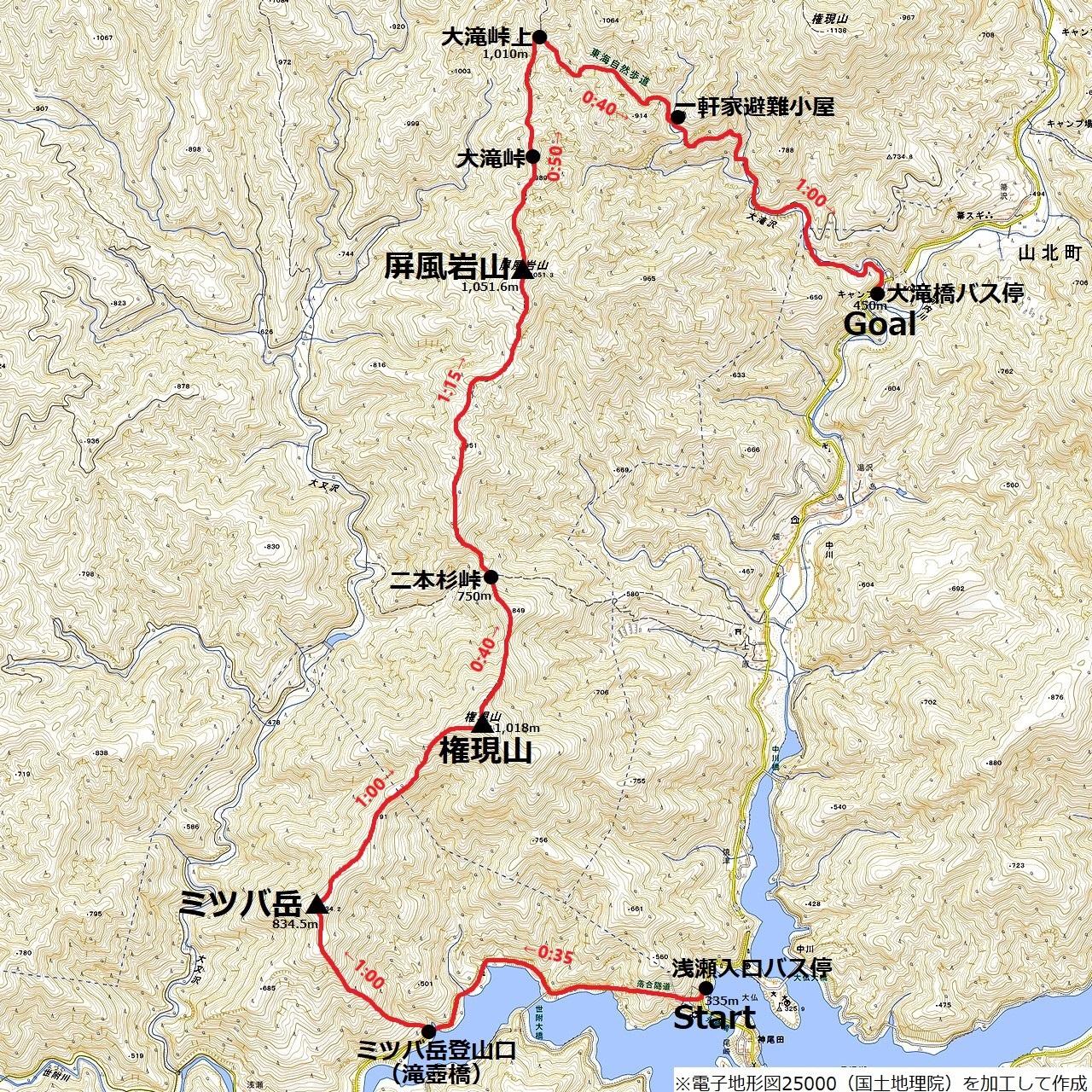 190331ミツバ岳_map