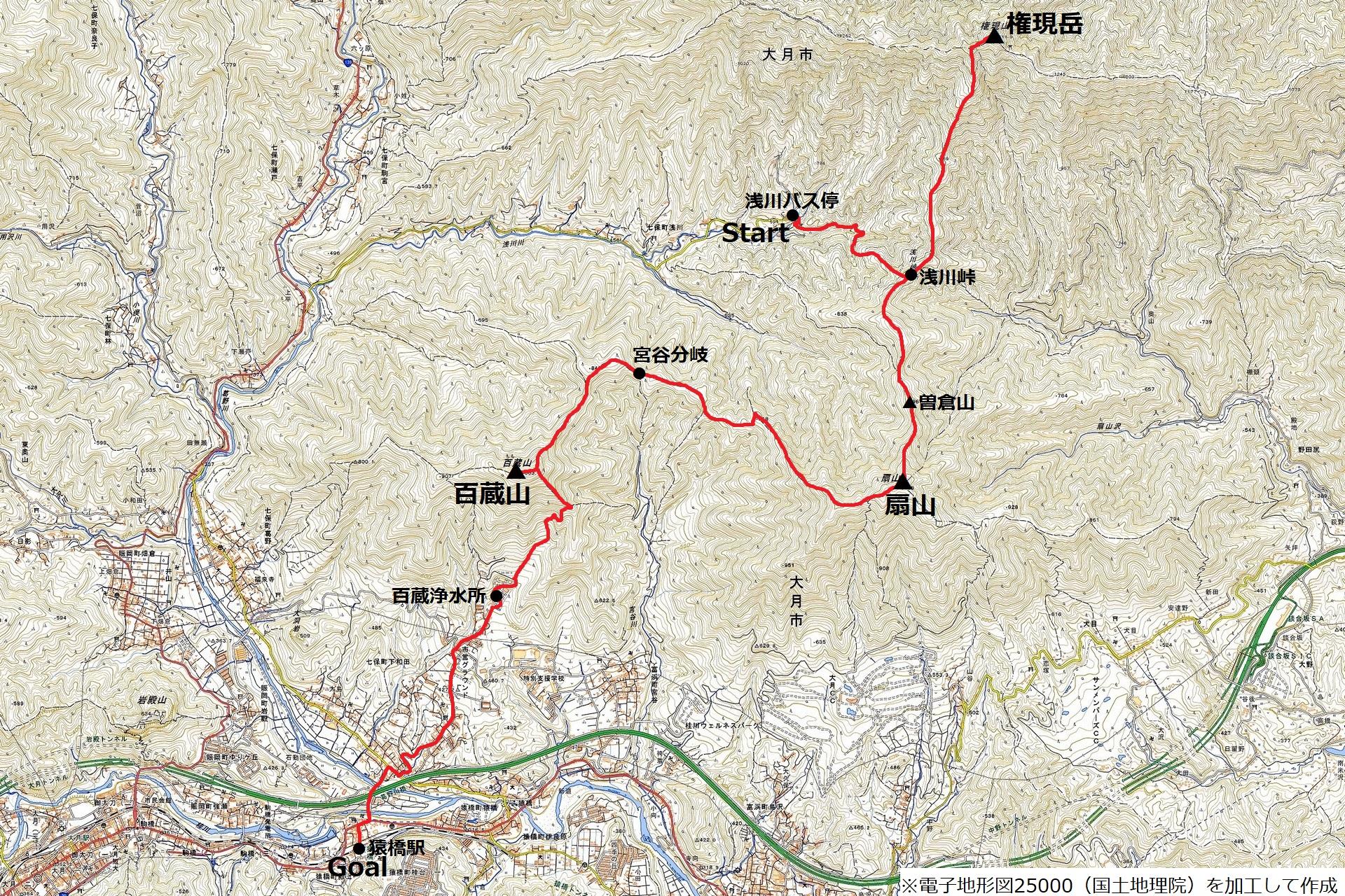 191214北都留三山_map
