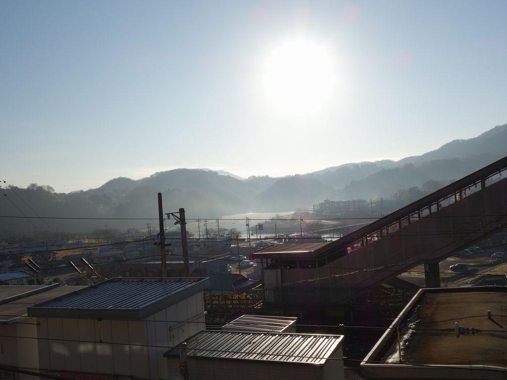 上野原駅から見た桂川