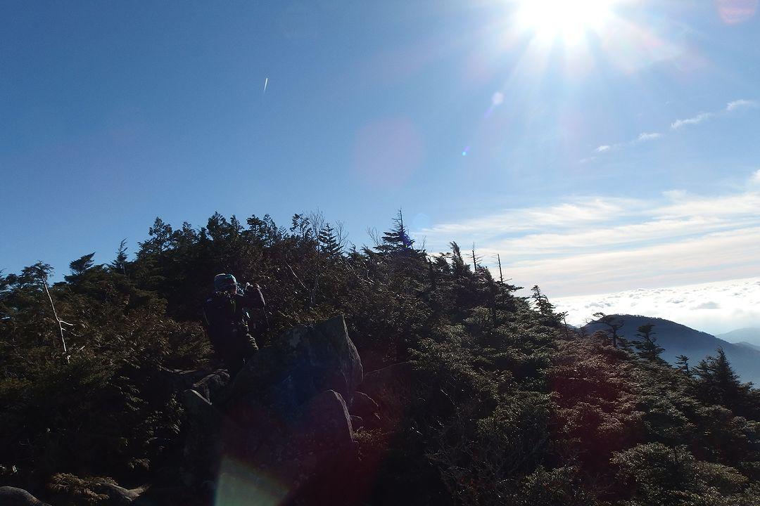 破風山の稜線