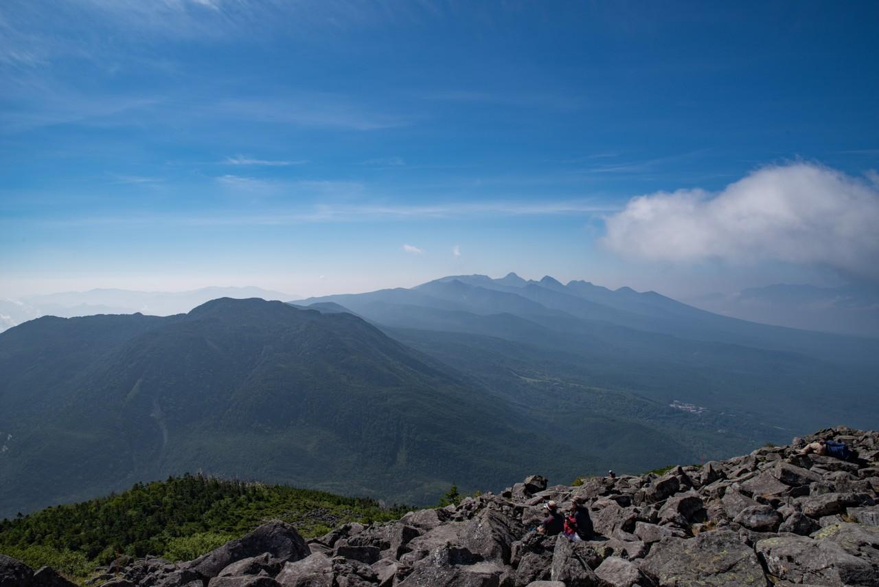 蓼科山から見た南八ヶ岳