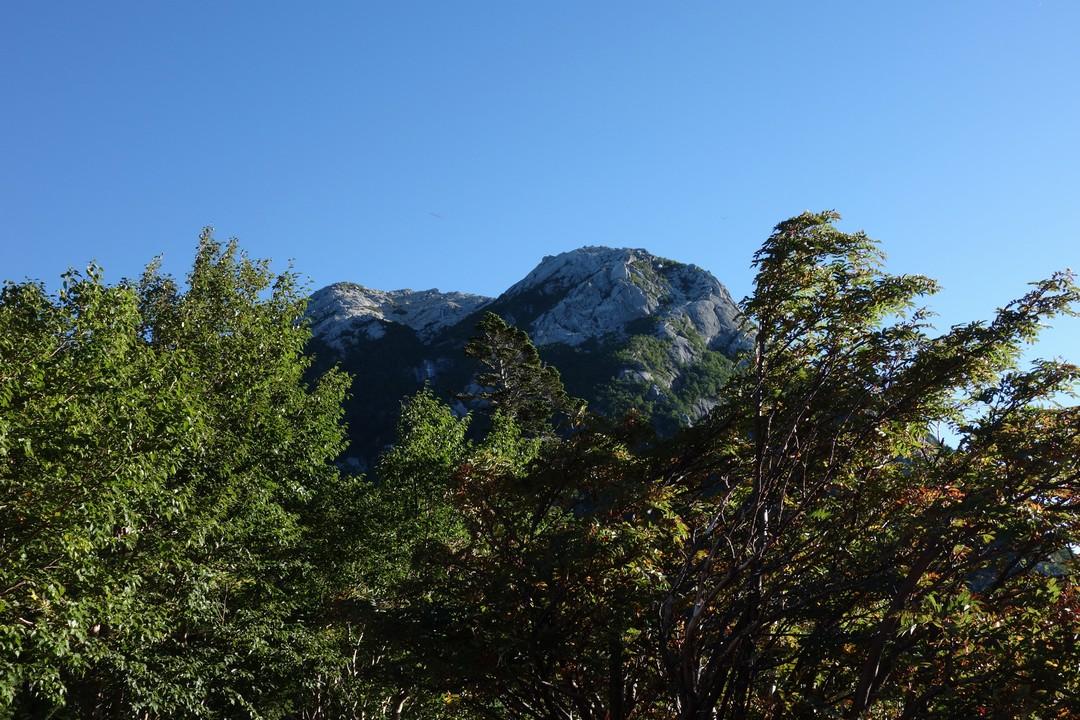 仙水峠からみた甲斐駒ケ岳