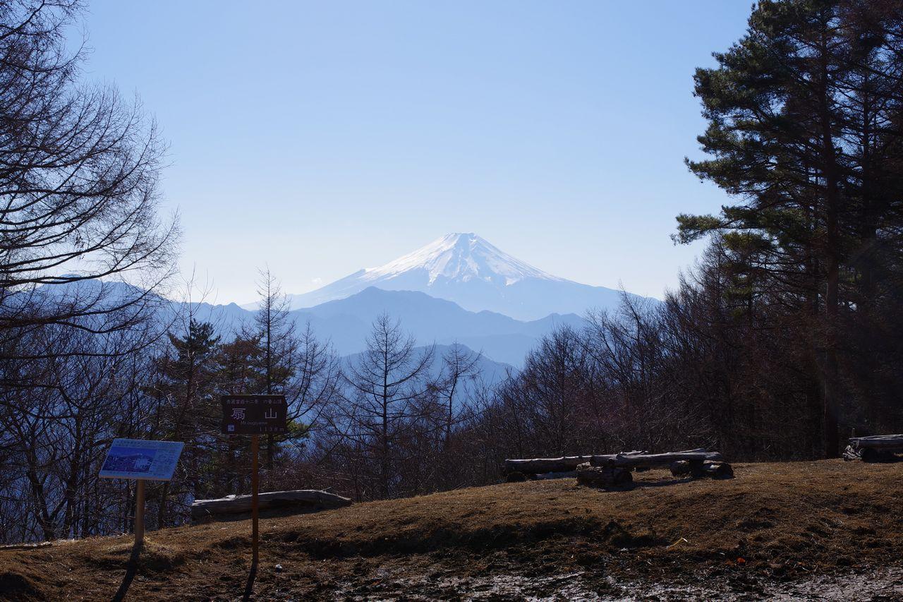 扇山の山頂標識