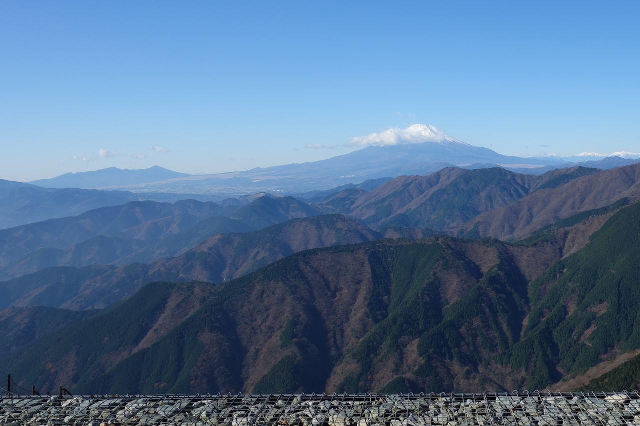 三ノ塔から見た富士山