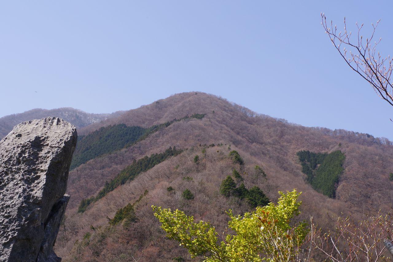 稲村岩の頂上から見た稲村岩尾根
