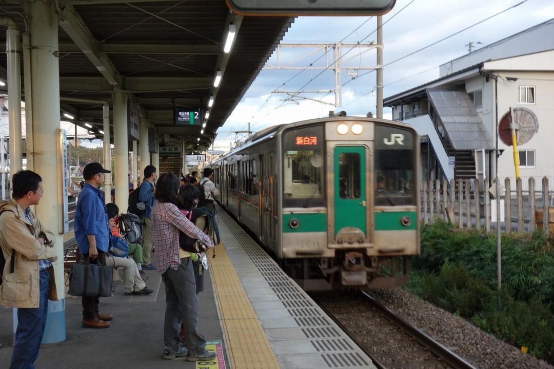 二本松駅のホーム