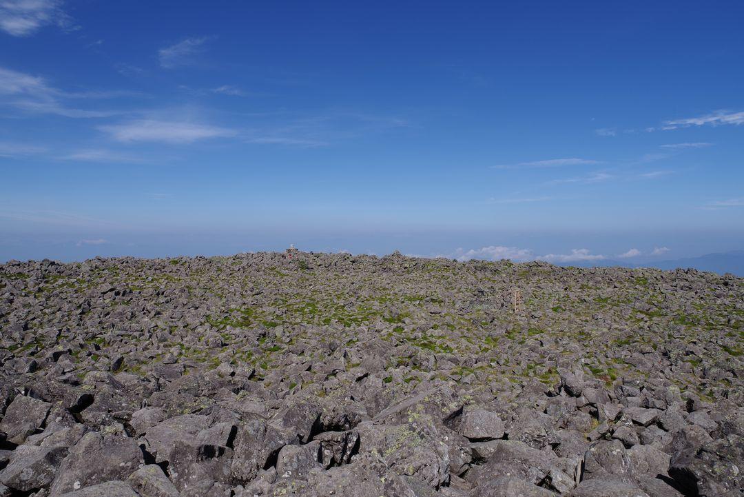 蓼科山の山頂