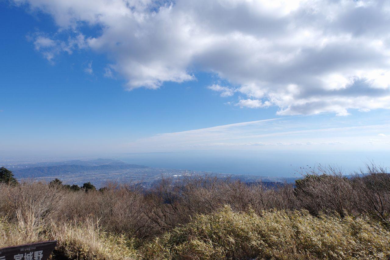 明神ヶ岳から見た相模湾