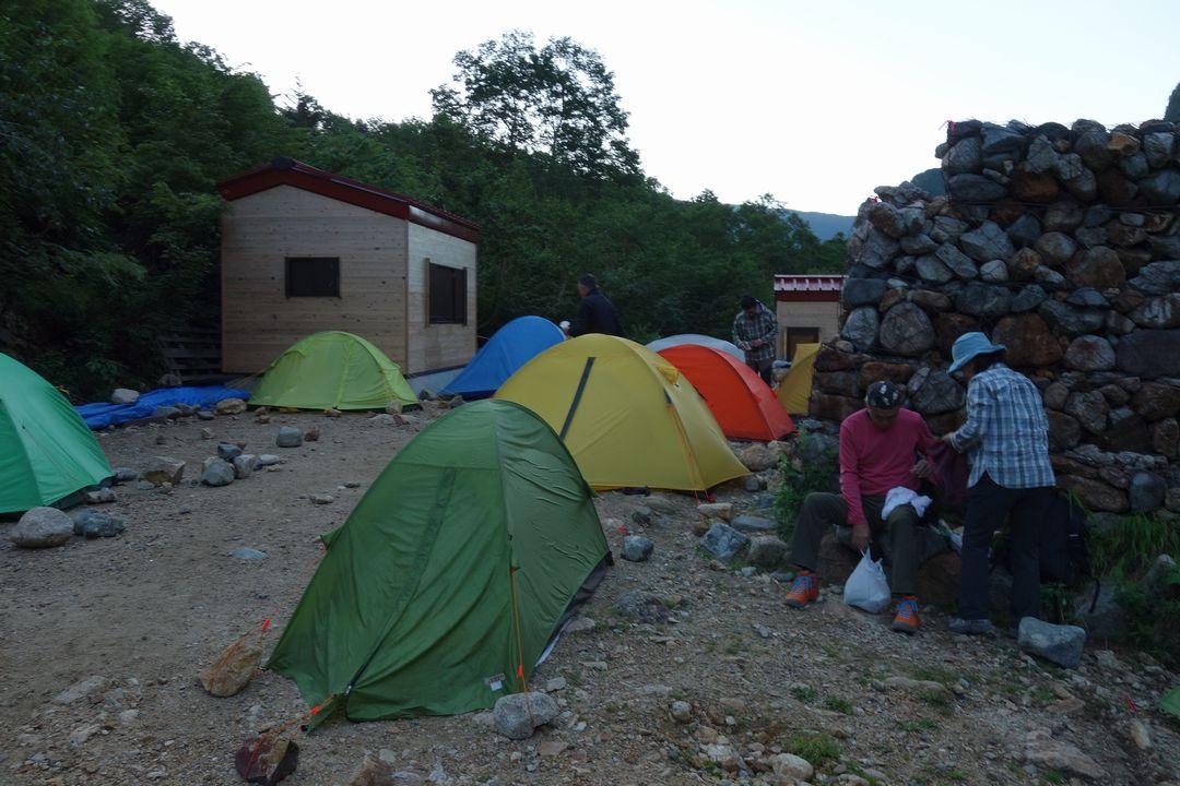 早朝のババ平キャンプ場