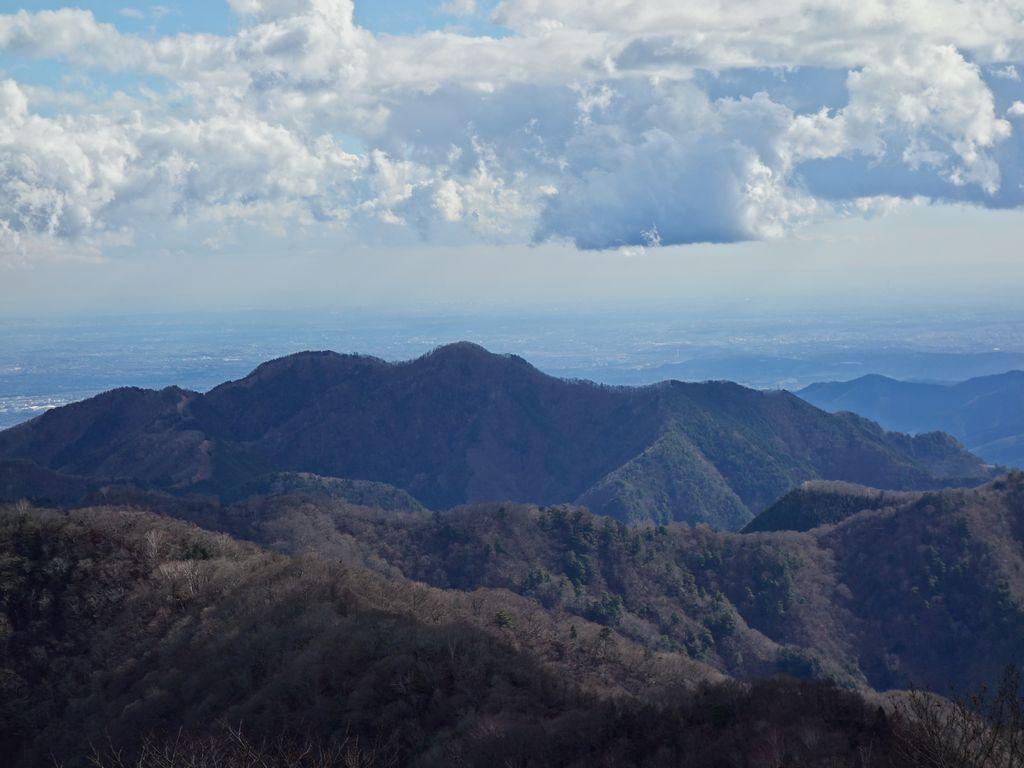 天目山から見た川苔山
