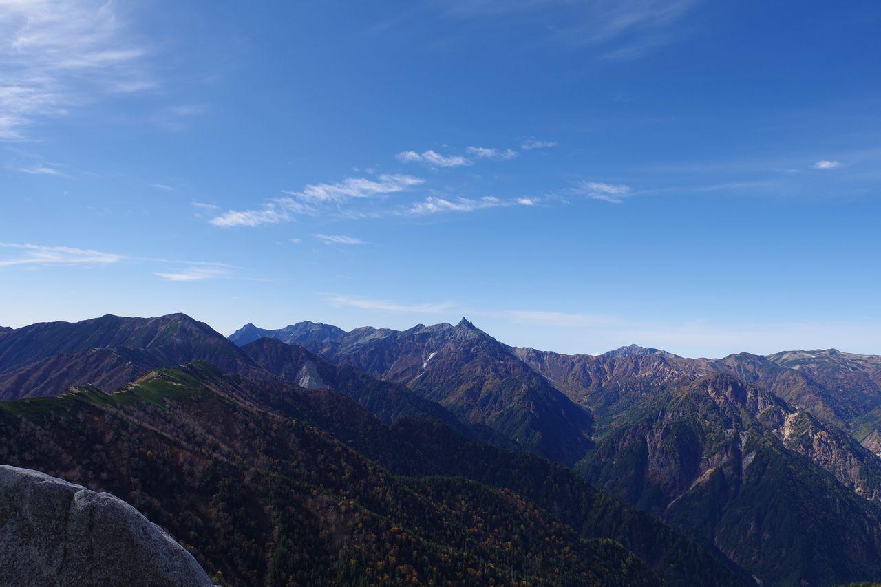 燕岳から見た北アルプスの主稜線