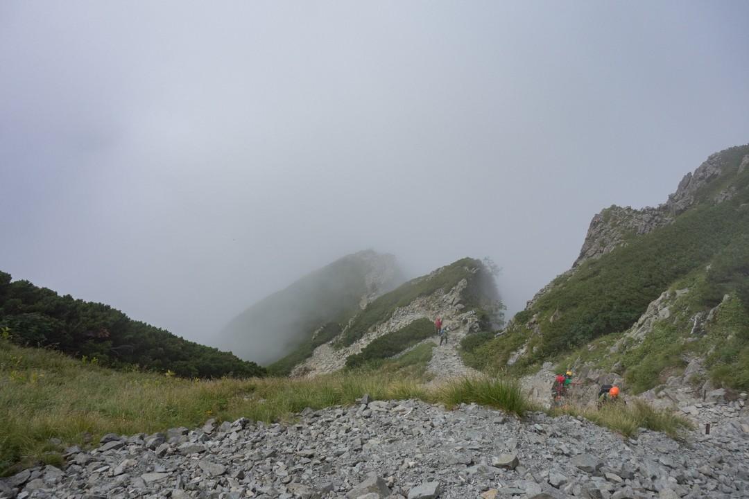 重太郎新道の登山道