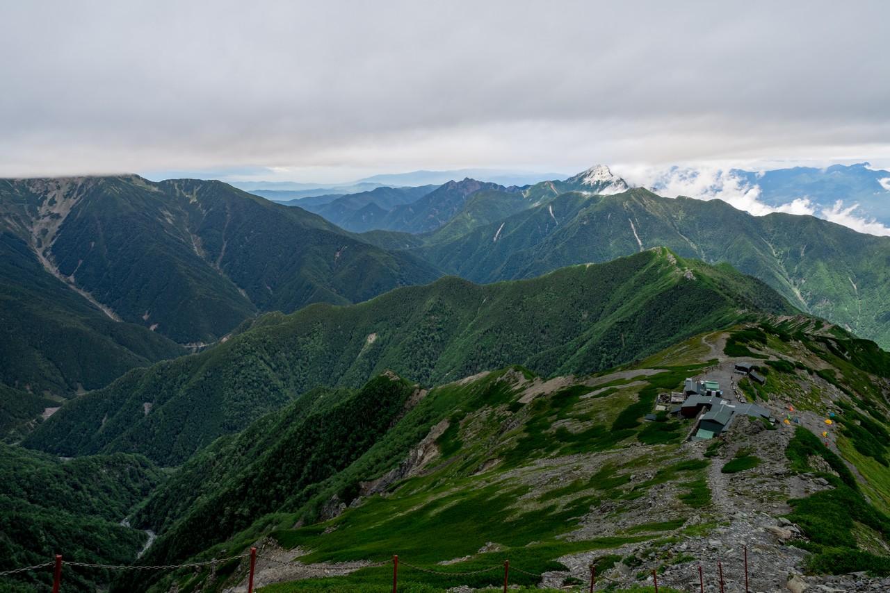 北岳肩ノ小屋付近から見た甲斐駒ヶ岳