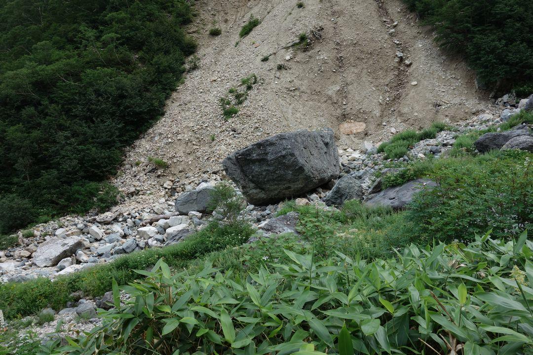槍沢大曲の大岩