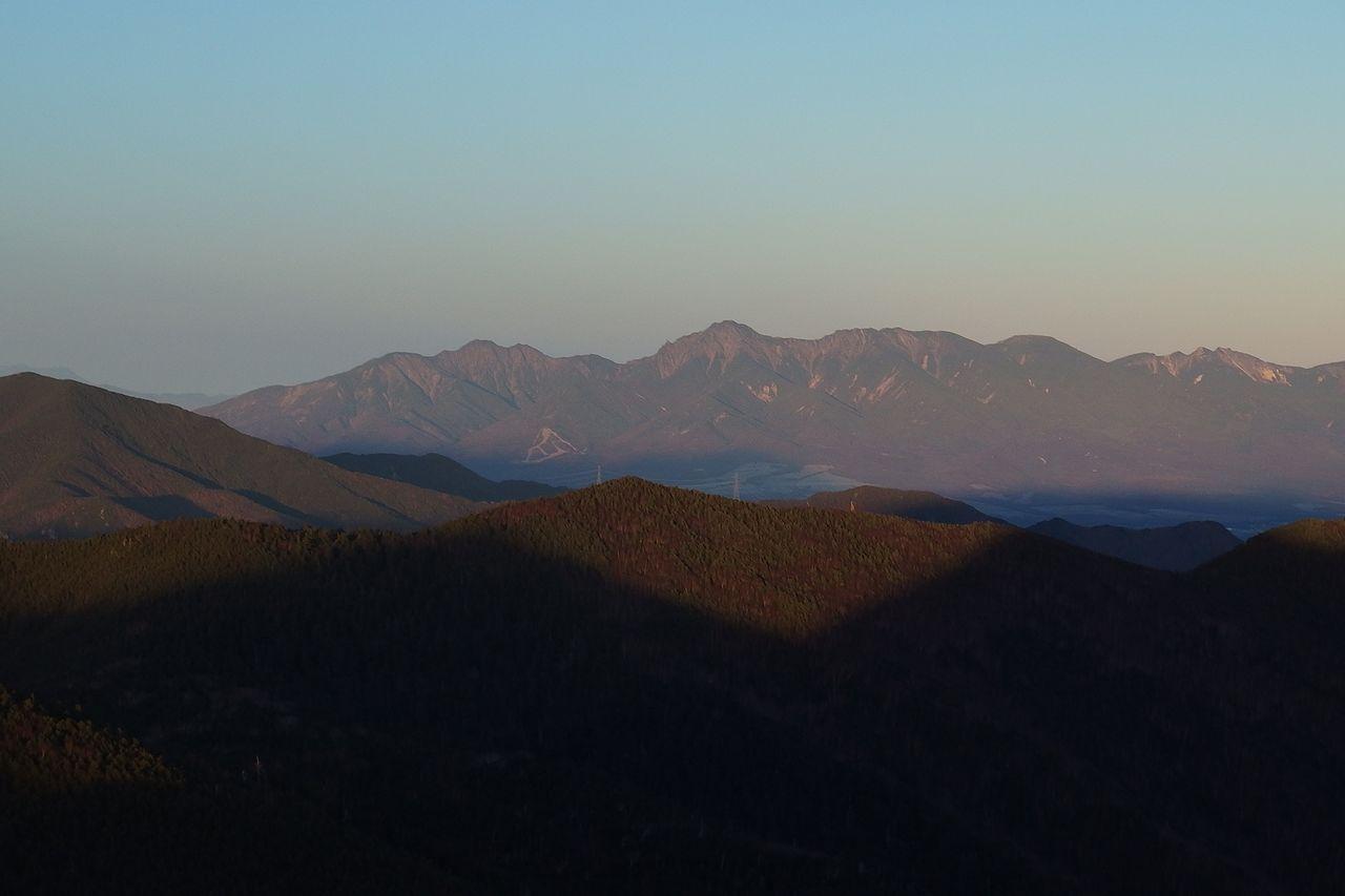 甲武信ヶ岳から見た八ヶ岳連峰