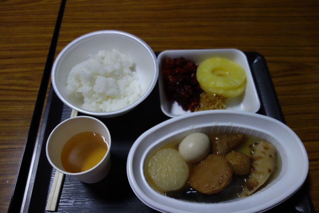 蛭ヶ岳の夕食