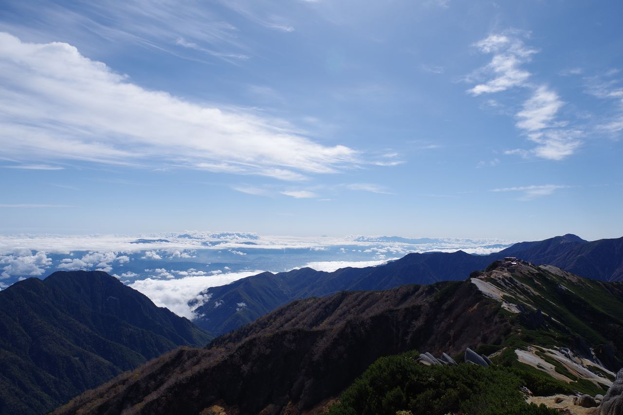燕岳から見た南西方向の展望