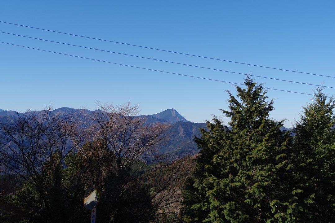 奥武蔵グリーンラインから見た武甲山