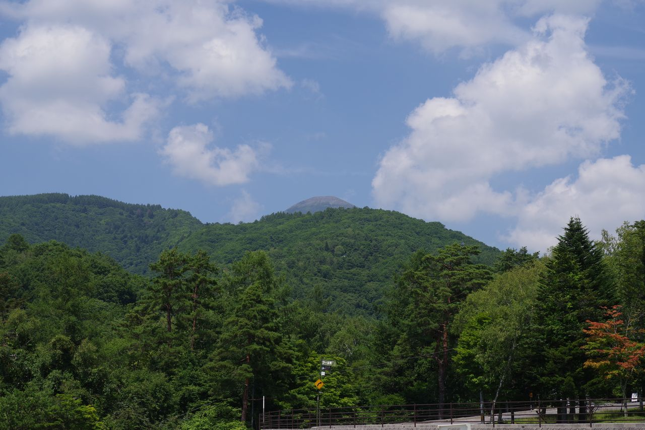 プール平から見た蓼科山