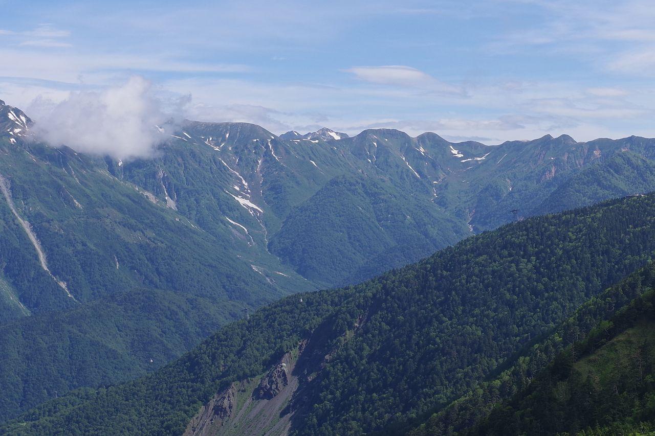 焼岳から見た鷲羽岳