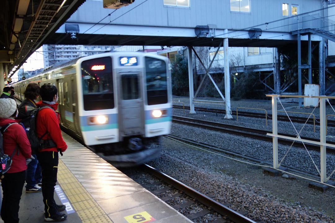 高尾駅のホーム