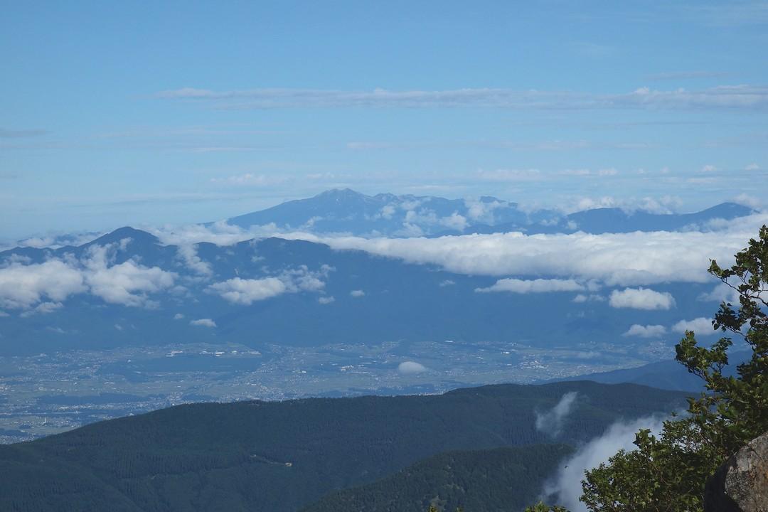 駒津峰から見た乗鞍岳