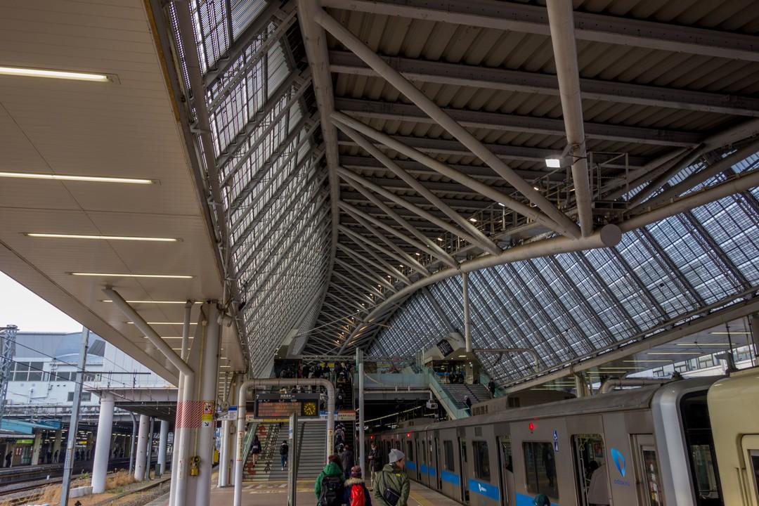 小田急線 小田原駅の天井