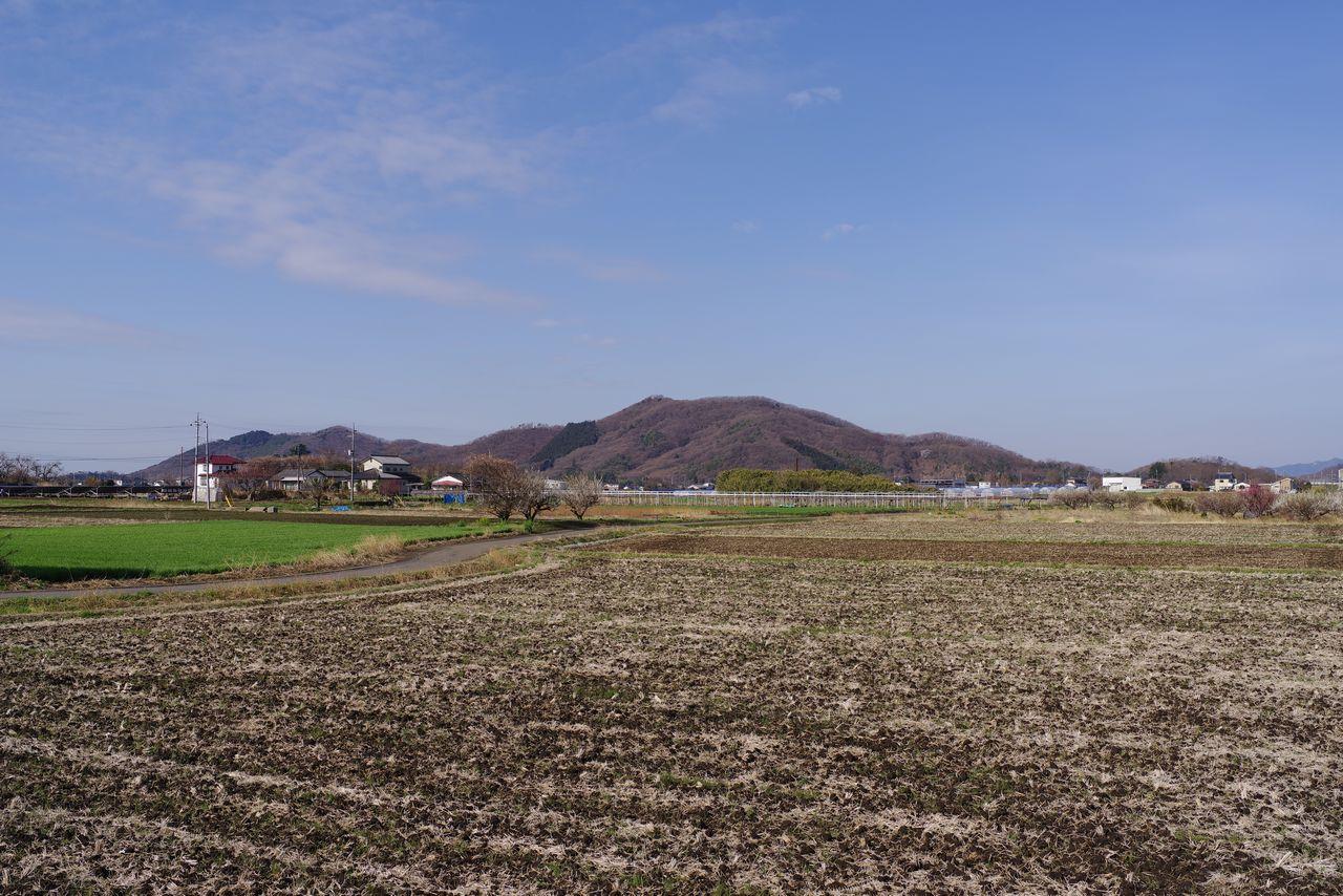 岩船駅から見た三毳山