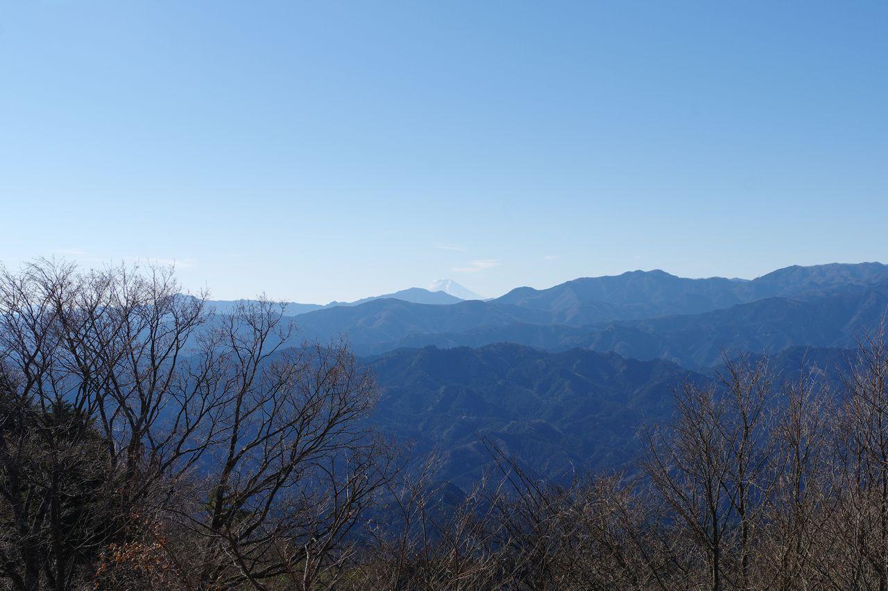 関八州見晴台から見た富士山
