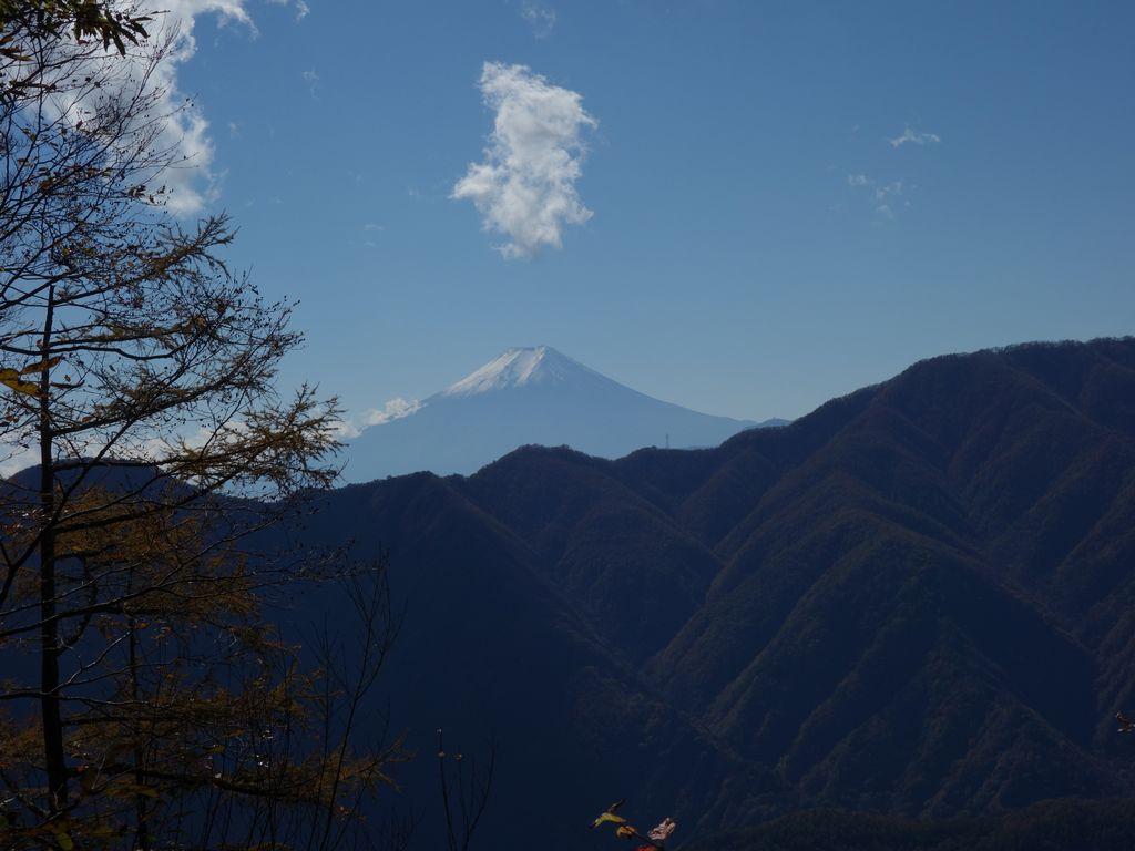 鶴寝山から見た富士山