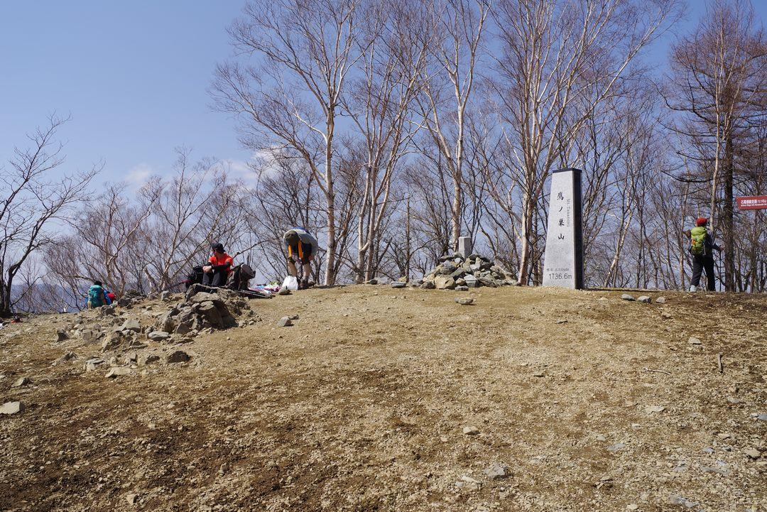 鷹ノ巣山 山頂の様子