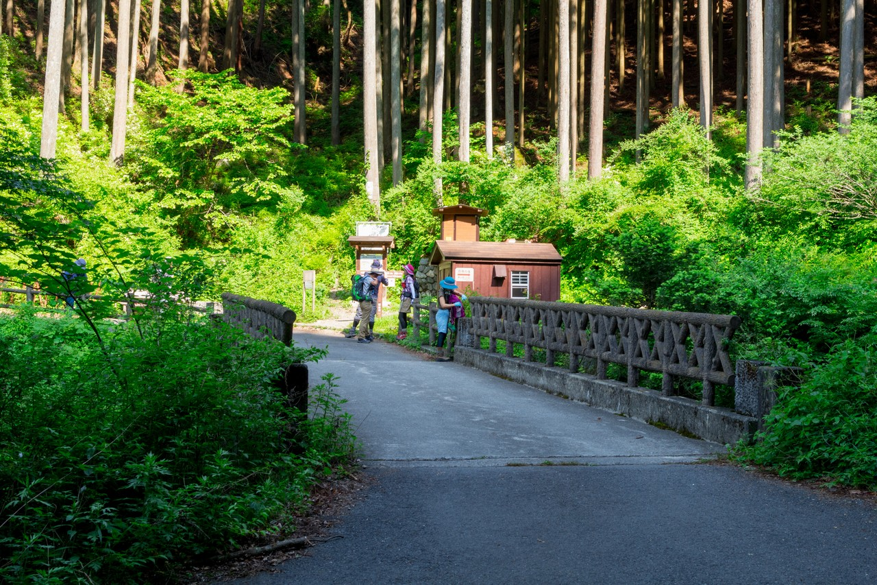 川乗谷の細倉橋