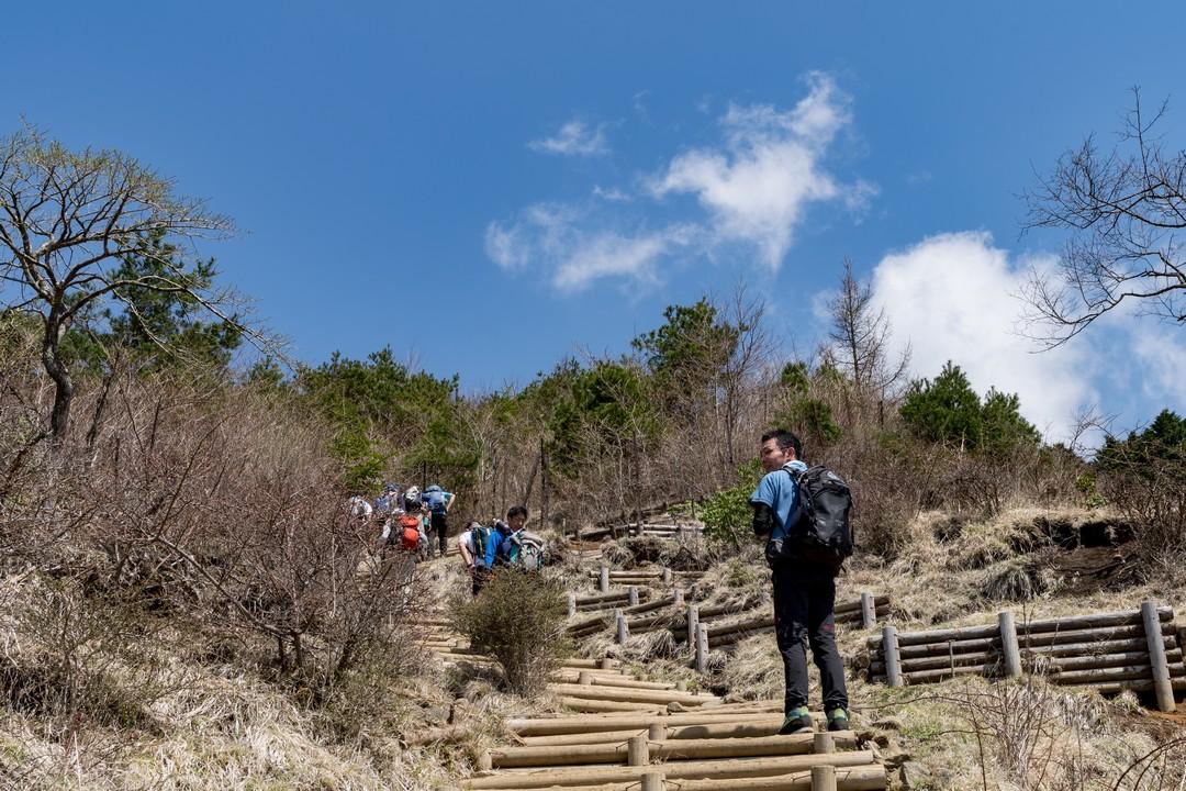 倉尾根 花立の階段