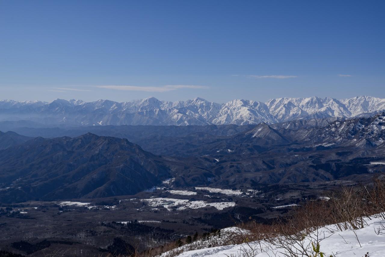 飯縄山から見た後立山連峰