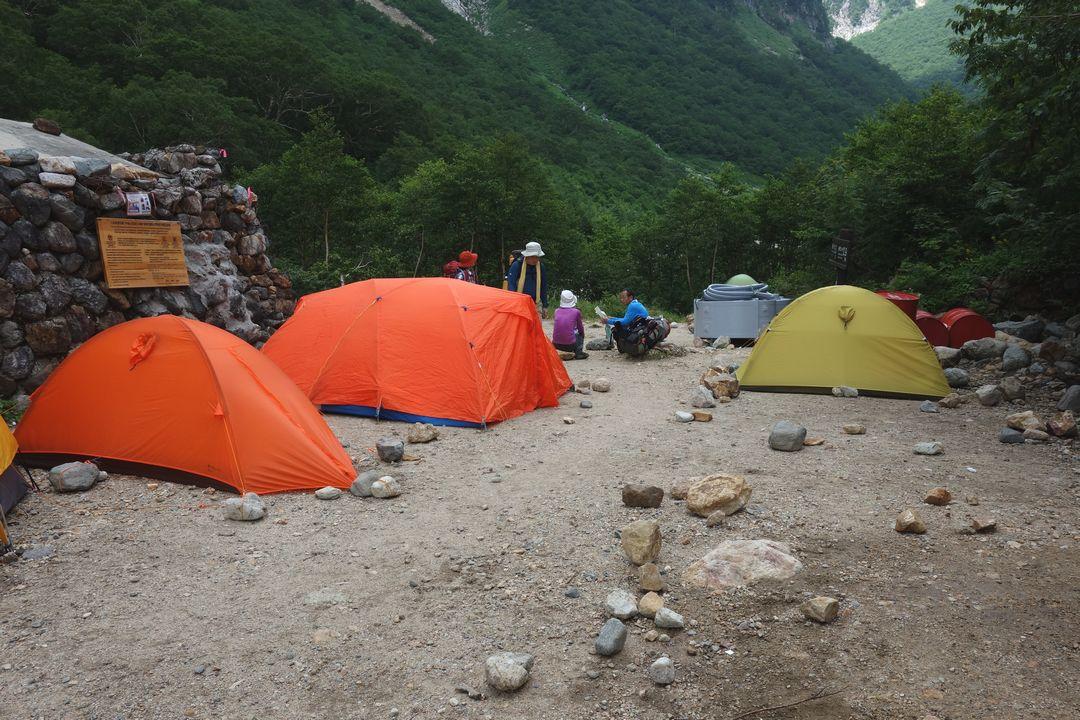 ババ平キャンプ場の様子